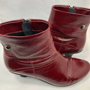 La Canadienne Burgundy leather ankle Boots 9.5M